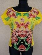 Bluzka w kwiaty Zara TRF trafaluc