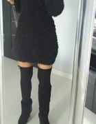 futrzana sukienka tunika futrzak