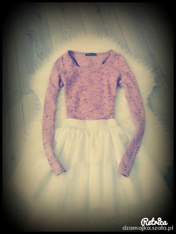 Spódnice Tiulowa biała zwiewna spódniczka HM
