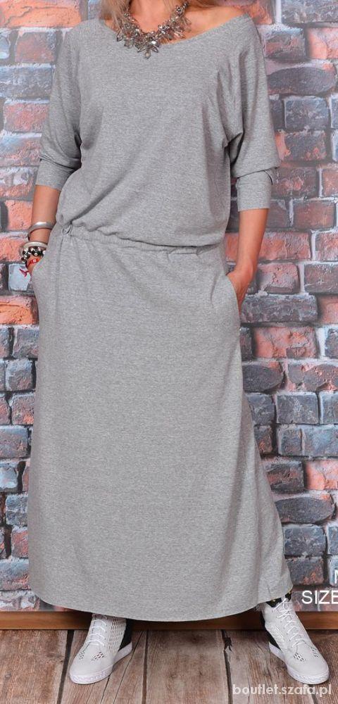 95b422e0ab Sukienka dresowa maxi lejąca pasuje na 38 do 42 w Suknie i sukienki ...