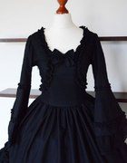 Gothic Kuro Lolita Sukienka Lady Sariel