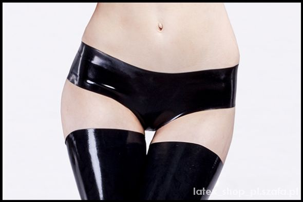 Figi Czarne lateksowe majteczki 100 latex