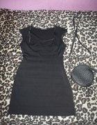 TANIO bandazowa sukienka mala czarna 42 44 GRATIS