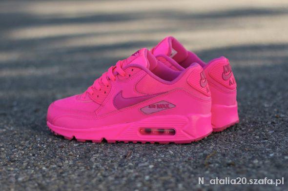 Buty NIKE AIR MAX 90 HYPER PINK różowe neon w Obuwie Szafa.pl