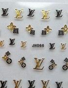 Louis Vuitton naklejki na paznokcie 3D