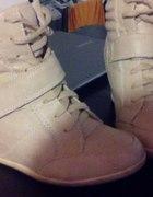 Sneakersy 36 beżowe