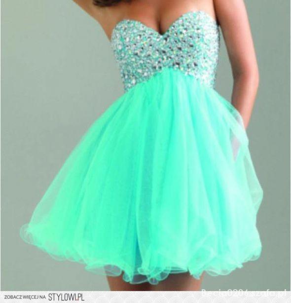 mietowa sukienka...
