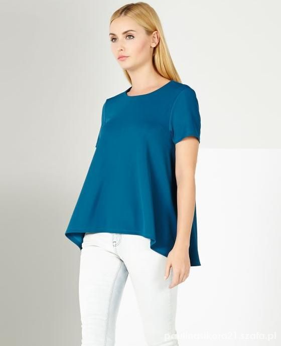Niebieska bluzka Mohito...