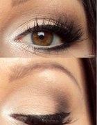 rozświetlony makijaż