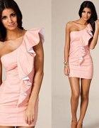 ASOS Tfnc brzoskwinowa morelowa sukienka