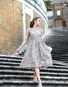Sukienka koronkowa Coast asos beżowa