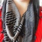 Czarno szara Chustka apaszka