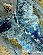 katanka kurteczka marmurek jeansowa dżins
