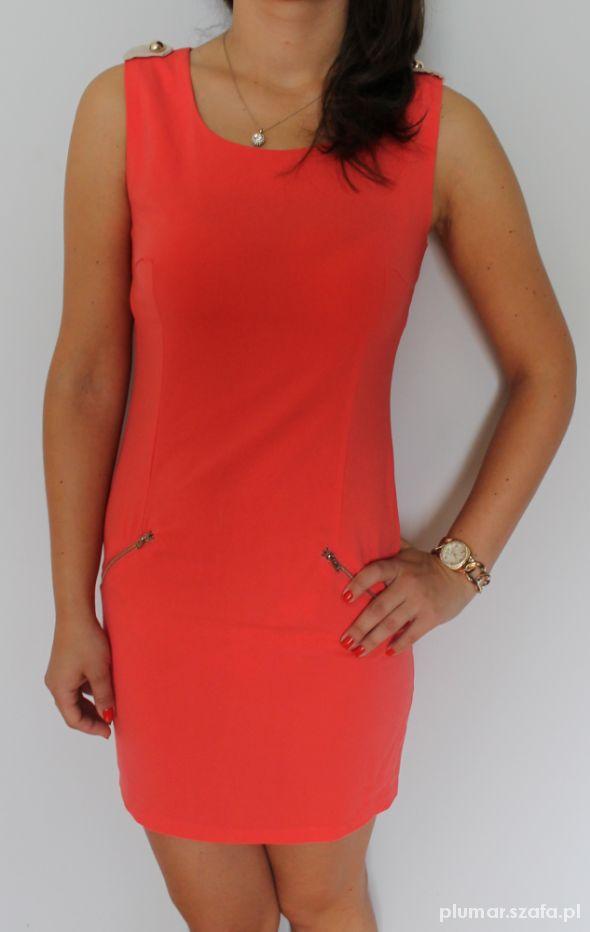 Klasyczna Sukienka złoty zip
