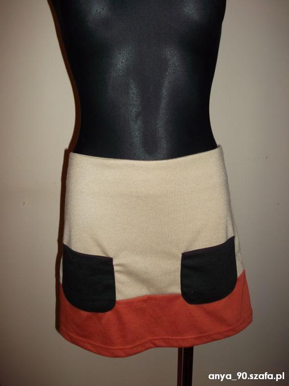 Spódnice spódniczka nude brąz M na L
