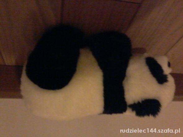 duzy mis panda i duzy piesek siedzacy...