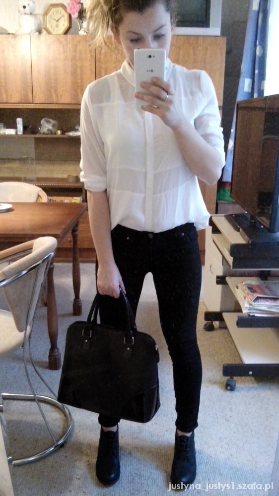 Eleganckie czarny i biały