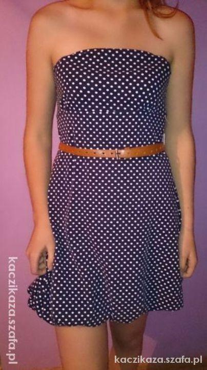 sukienka w kropki grochy