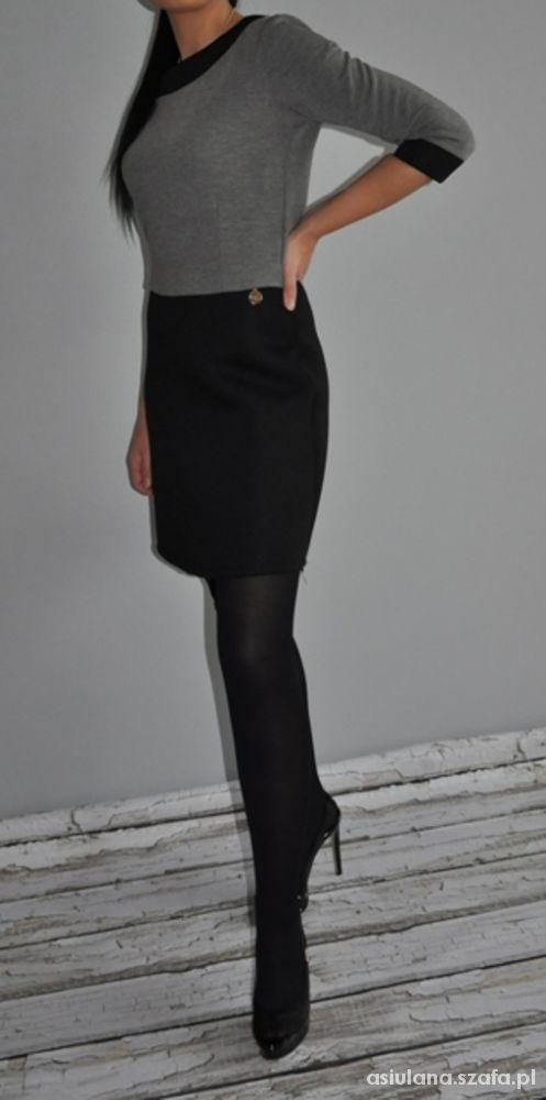 Eleganckie Czarno szara