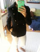 Kurtka płaszczyk H&M czarny roz XS S
