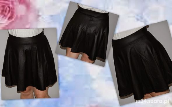 Spódnice Spódnica ala skóra kloszowana 44