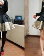 Śliczna spódnica złota
