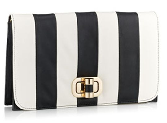 Striped handbag...