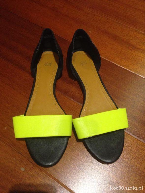 Sandały H&M SANDAŁKI NEON