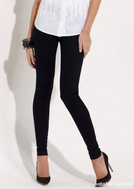 Zara nowe czarne mocne legginsy