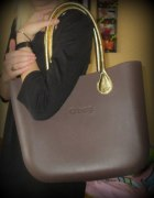 Moja O bag brązowa i złote rączki