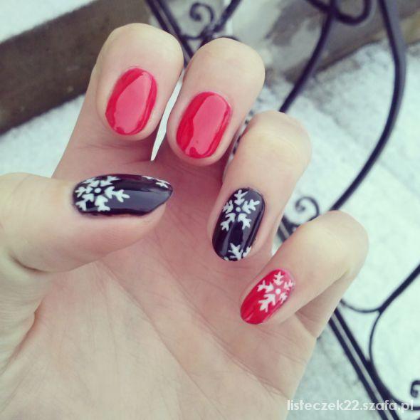 Fryzury paznokcie świąteczne