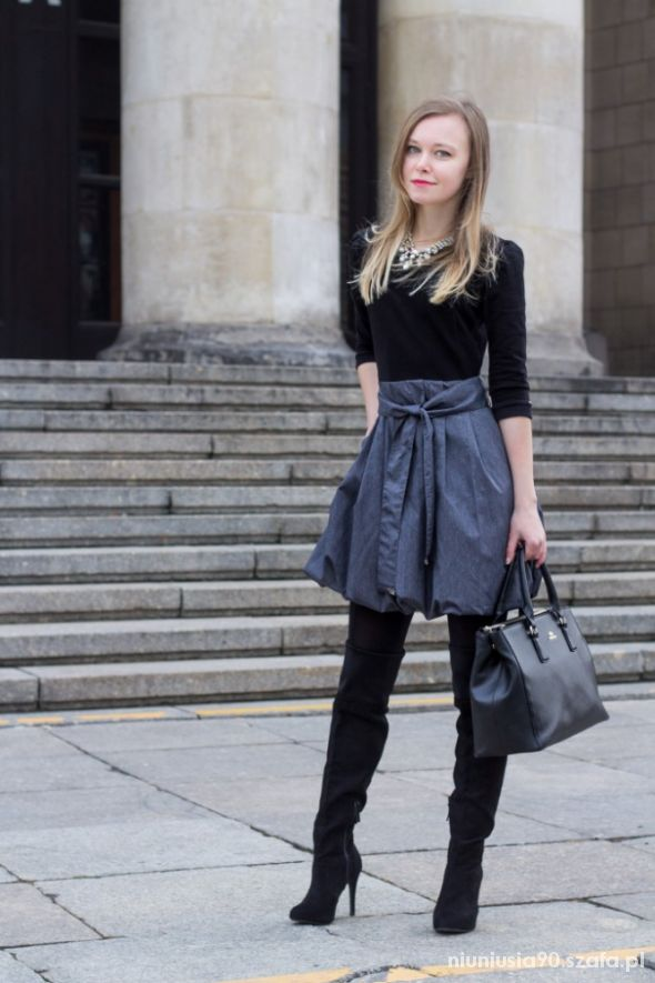 Grey & Black Outfit