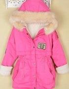 kurtka puchowa pink...