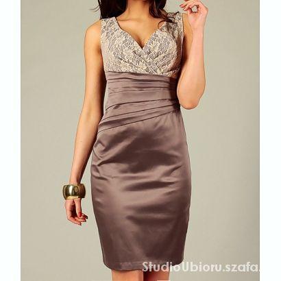 Suknie i sukienki Sukienka z koronką rozm 48