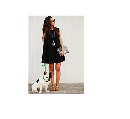 czarna luźna sukienka