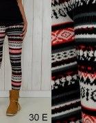 Ciepłe norweskie legginsy wzory E