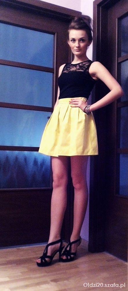 Imprezowe Neonowa spódniczka