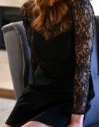 czarna sukienka zara z koronka...