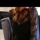 czarna sukienka zara z koronka