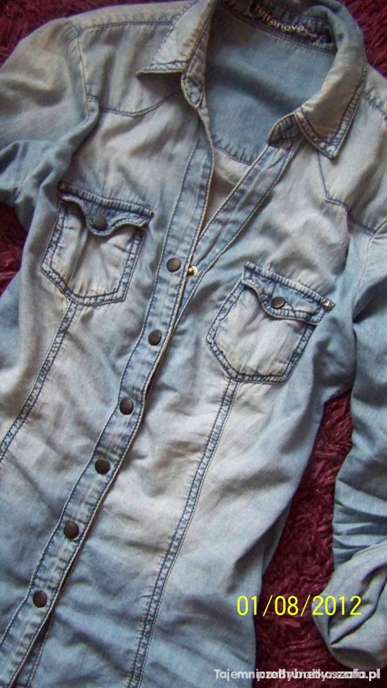 Błękitna koszula jeans TERRANOVA r S lub XS...