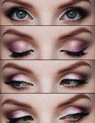 różowy dzienny makijaż...
