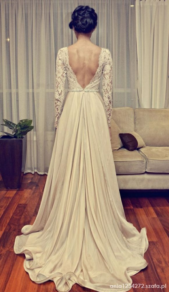 Eleganckie piękna suknia