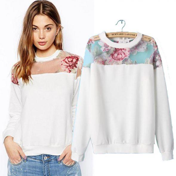 Bluzy Bluza z kwiatami OKAZJA