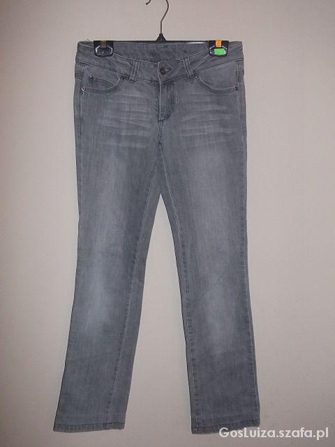 Spodnie rurki Szare jeansy