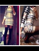 Mini sukienka krata Burberry Rozm S
