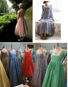Sukienki lata 70 80 natural kei laura ashley...