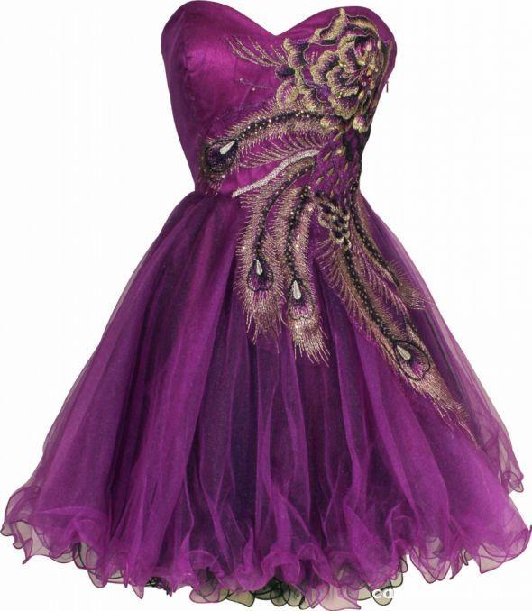 Na specjalne okazje fioletowe suknie
