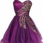 fioletowe suknie