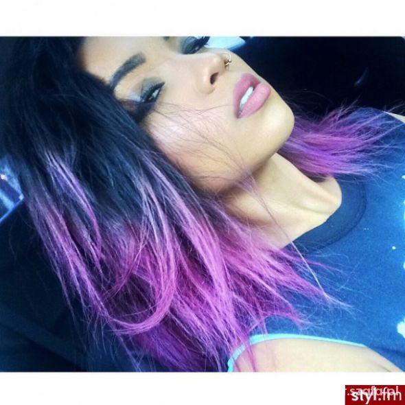 włosy fioletowe...