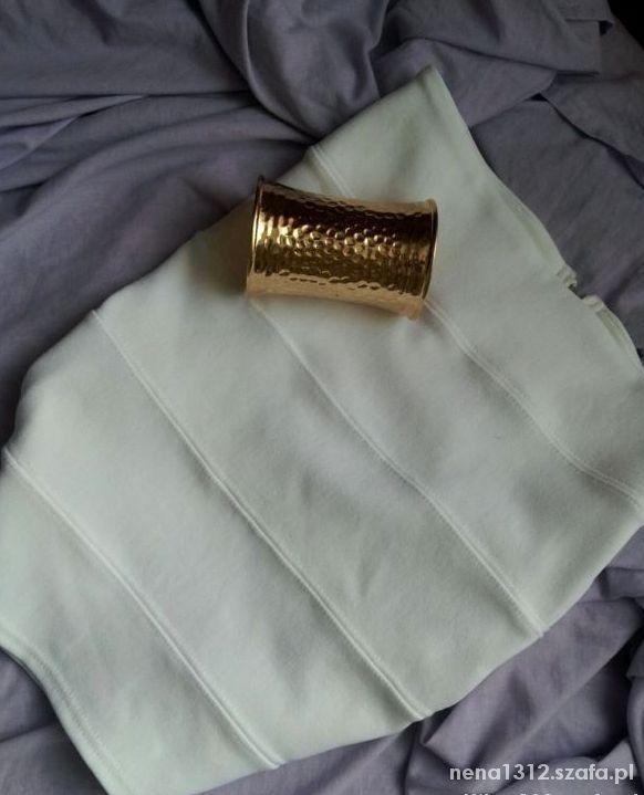 Spódnice Biała NOWA bandażowa olówkowa spódniczka tuba zip